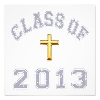 Clase del cristiano 2013 cruzado - gris 2 invitacion personalizada