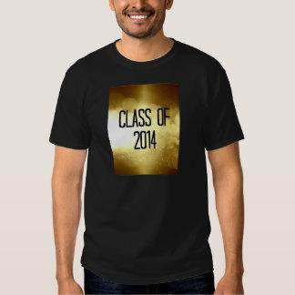 clase del fondo 2014 del oro camiseta