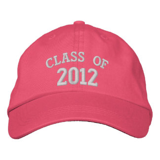 CLASE del gorra bordado rosado 2012 Gorra De Béisbol Bordada