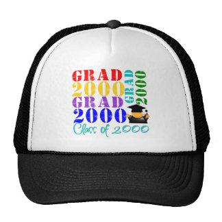 Clase del graduado de 2000 gorros bordados