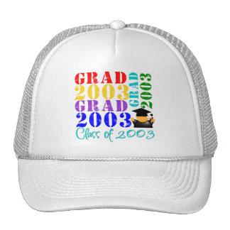 Clase del graduado de 2003 gorro