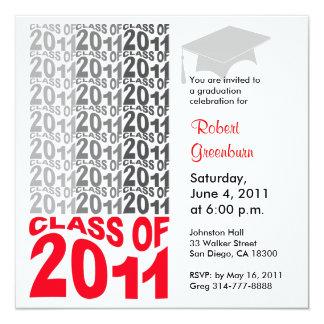 Clase del gris 2011 de la invitación TXT260 de la Invitación 13,3 Cm X 13,3cm