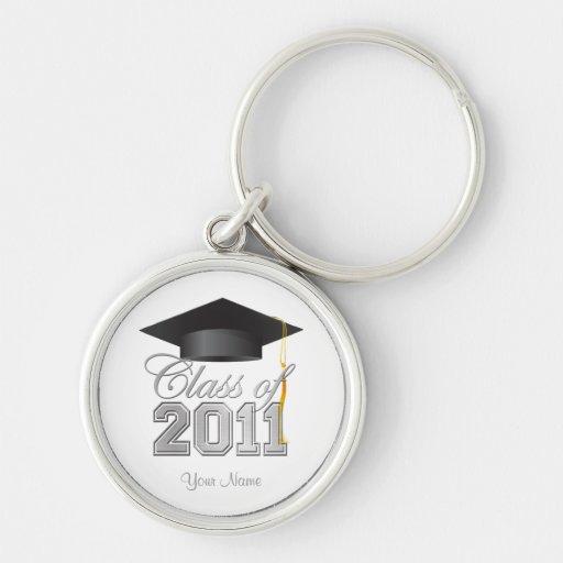 Clase del llavero 2011 de la graduación - blanco y