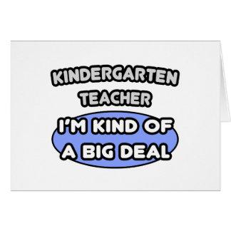 Clase del maestro de jardín de infancia… de una tarjeta de felicitación