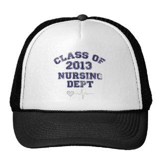 Clase del oficio de enfermera de 2013 gorras