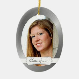 Clase del recuerdo 2014 de la graduación con su adorno navideño ovalado de cerámica