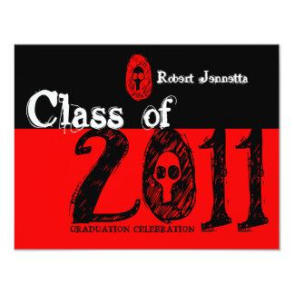Clase del rojo 2011 del cráneo de la invitación
