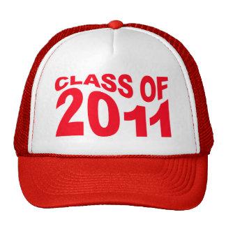 Clase del rojo 2011 del gorra de la graduación