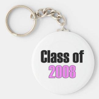 Clase del rosa 2008 llaveros personalizados