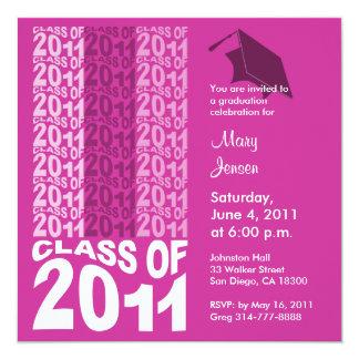 Clase del rosa 2011 de la invitación TXT261 de la