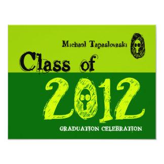 Clase del verde 2012 del cráneo de la invitación