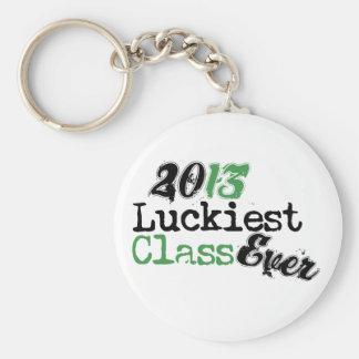 Clase divertida DE 2013 - la clase más afortunada  Llaveros Personalizados