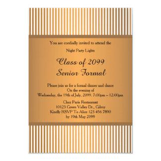 Clase formal mayor 2099, bronce del baile de fin invitación 12,7 x 17,8 cm