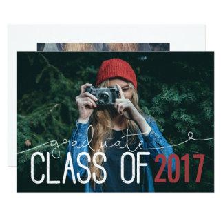 CLASE GRADUADA DE… INVITACIÓN 12,7 X 17,8 CM