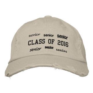 Clase mayor de 2016 - gorra bordado gorras de beisbol bordadas