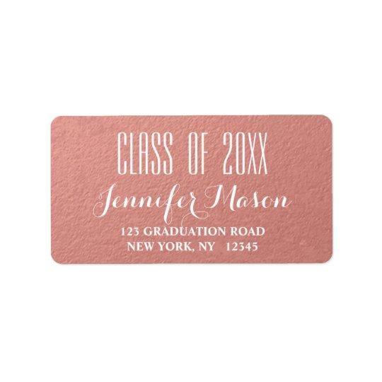 Clase moderna del oro color de rosa de etiqueta de etiquetas de dirección