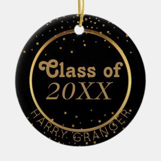 Clase negra de encargo de la graduación del oro de adorno de cerámica