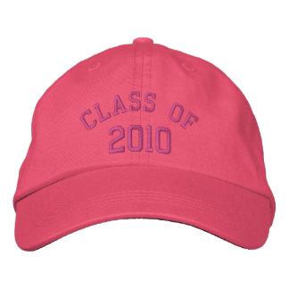 Clase rosada de gorra bordado 2010 gorras bordadas