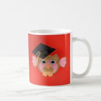 Clase sabia de la taza de la graduación del búho