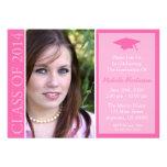 Clase tradicional de la graduación 2014 (rosa) invitaciones personales