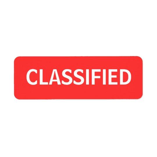clasificado etiquetas de remite
