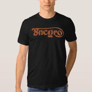 Classic 8negro logo orange. camisetas