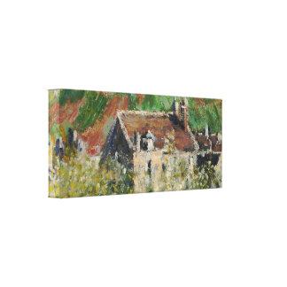 Claude Monet - árboles de ciruelo florecientes Lienzo Envuelto Para Galerías