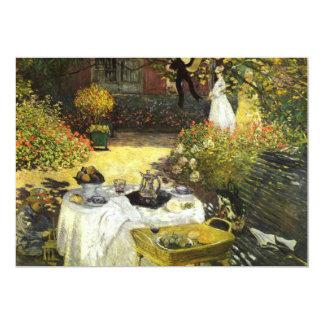 Claude Monet: El almuerzo Invitación 12,7 X 17,8 Cm