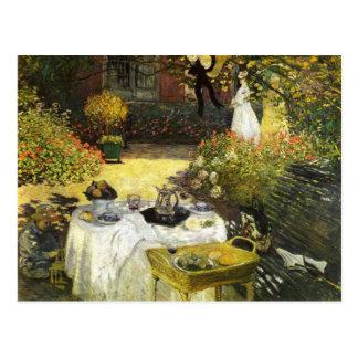 Claude Monet: El almuerzo Postal