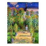 Claude Monet: El jardín de Monet en Vétheuil Postales