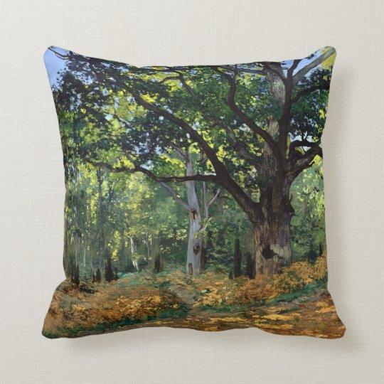Claude Monet el roble de Bodmer, bosque de Cojín Decorativo