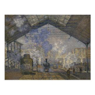 Claude Monet - la estación del Santo-Lazare Postal