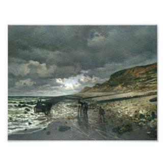 Claude Monet - La Pointe de la Hève durante la Foto