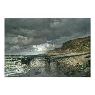 Claude Monet - La Pointe de la Hève durante la Fotografías