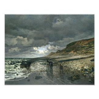 Claude Monet - La Pointe de la Hève durante la Impresión Fotográfica