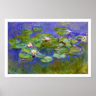 Claude Monet - lirios de agua Póster