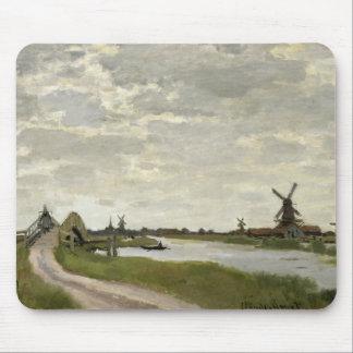 Claude Monet - los molinoes de viento acercan a Alfombrilla De Ratón
