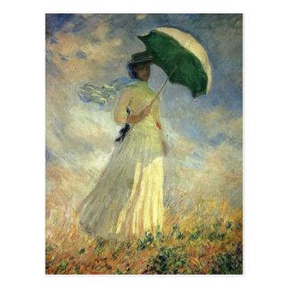 """Claude Monet, """"mujer con la postal de un parasol"""""""