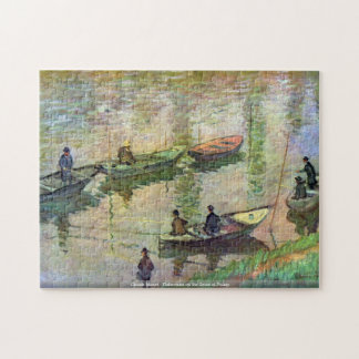 Claude Monet - pescadores en el Sena en Poissy Puzzle