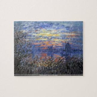 Claude Monet - puesta del sol en el rompecabezas d