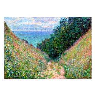 Claude Monet: Trayectoria en el La Cavee Pourville Tarjeta De Visita
