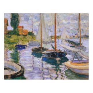 Claude Monet - veleros en el Sena Cuadro