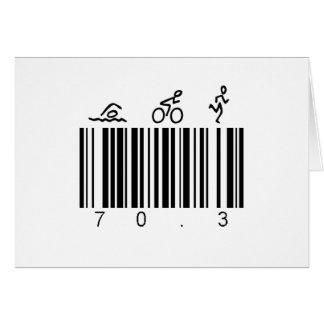 Clave de barras 70,3 tarjeta de felicitación