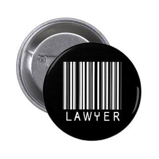 Clave de barras del abogado chapa redonda 5 cm