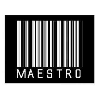 Clave de barras del maestro tarjeta postal