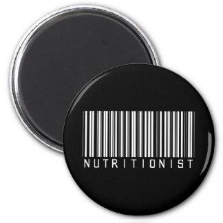 Clave de barras del nutricionista imán redondo 5 cm