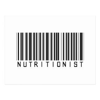 Clave de barras del nutricionista postal