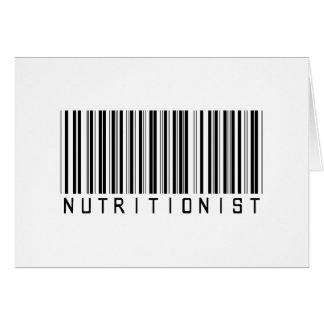 Clave de barras del nutricionista tarjeta de felicitación