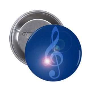 Clave de Sol en Chapa o treble clef con efectos Chapa Redonda 5 Cm