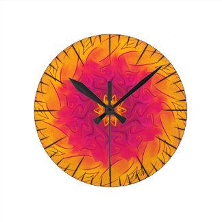 Clavel adaptable (spirograph psicodélico) reloj redondo mediano
